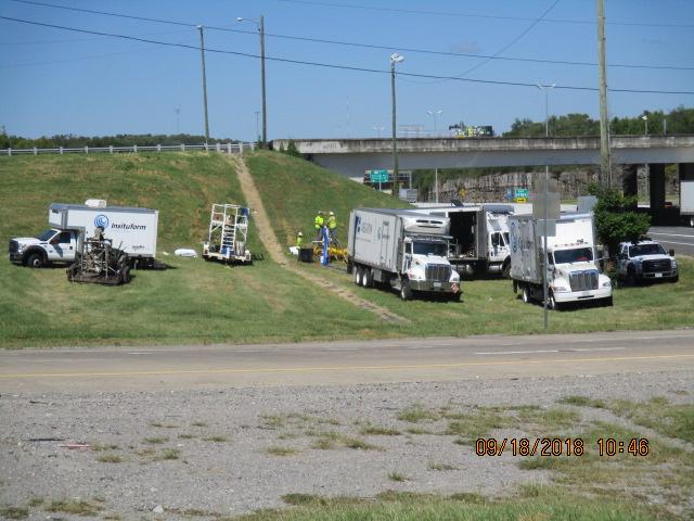 CIPP Lining on Briley Parkway