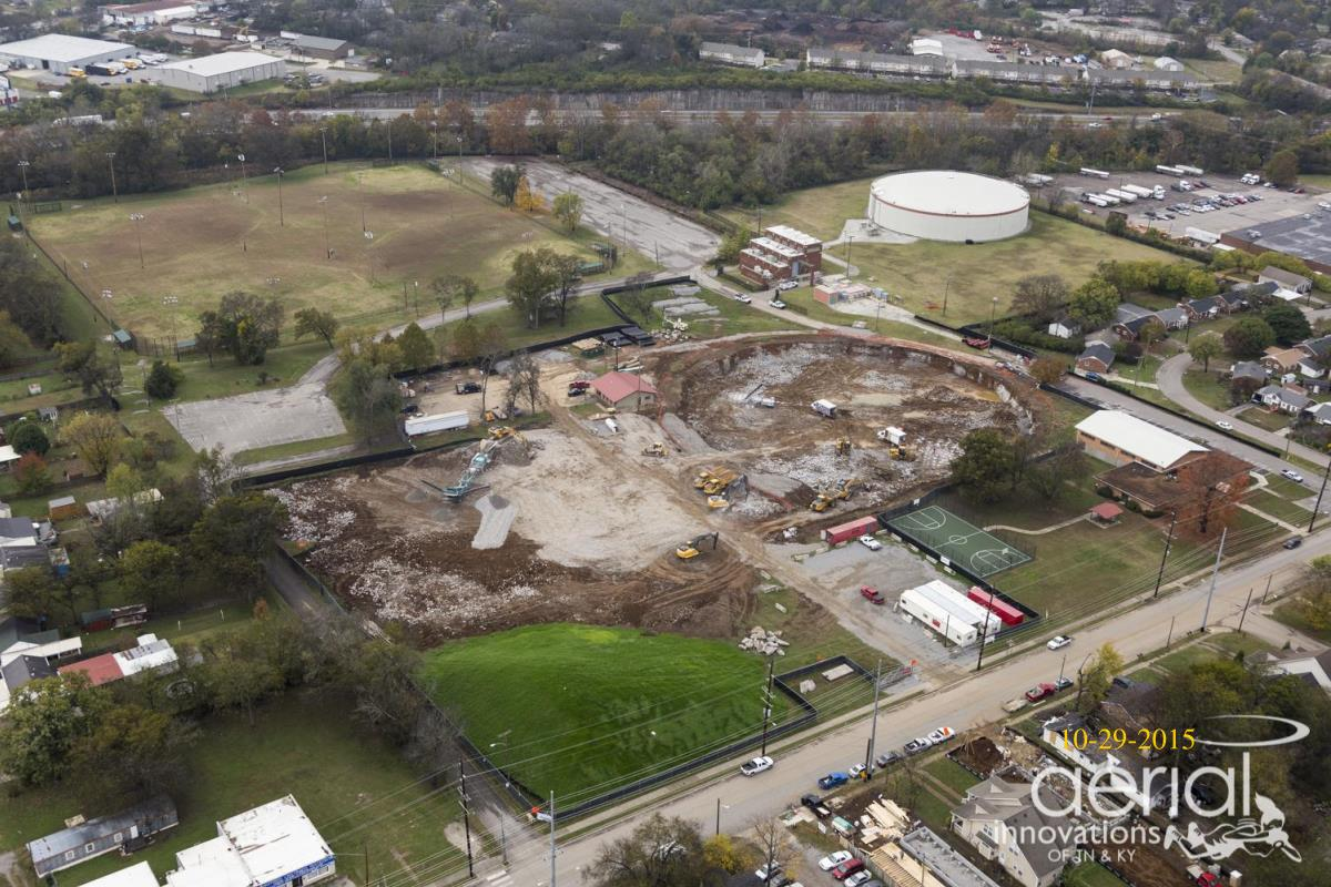 Aerial View of Excavation for EQ Tank