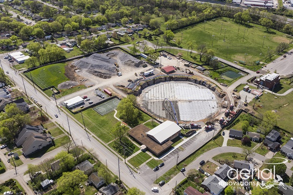 Aerial View of West Park EQ Facility