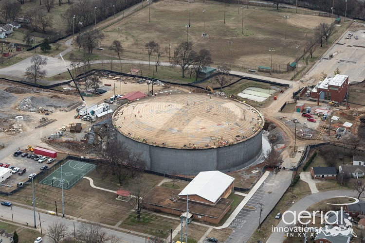 Aerial of EQ Tank
