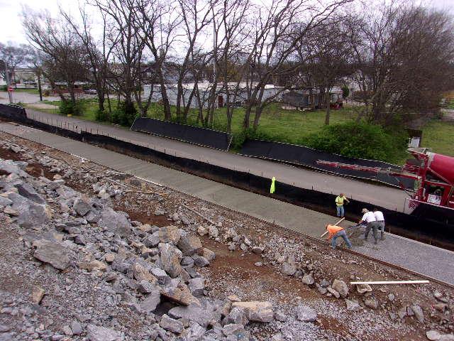 Finishing Concrete on Sidewalks