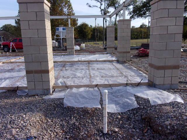 Pavilion Floor Slab Forms