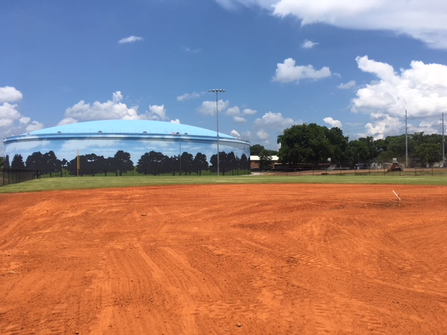 View of EQ Tank from Softball Field