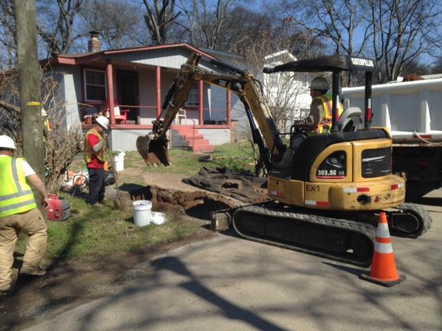 Underground Eyes Excavating for Cleanout Installation
