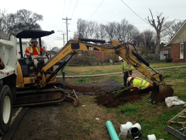Excavation for Cleanout Installation