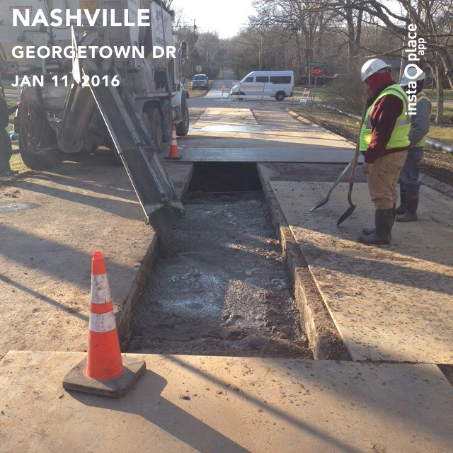 Pouring Flowable Fill for Trench Repair