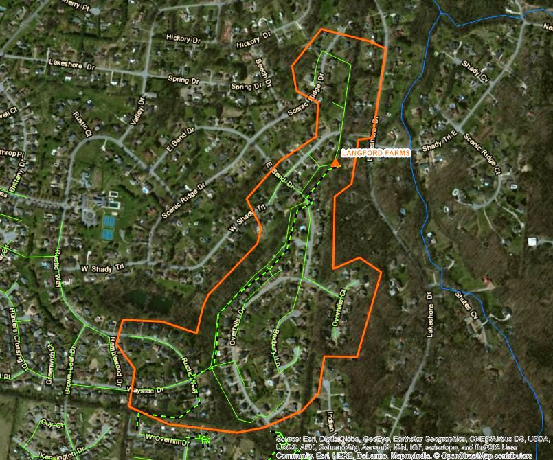 Langford Project Map