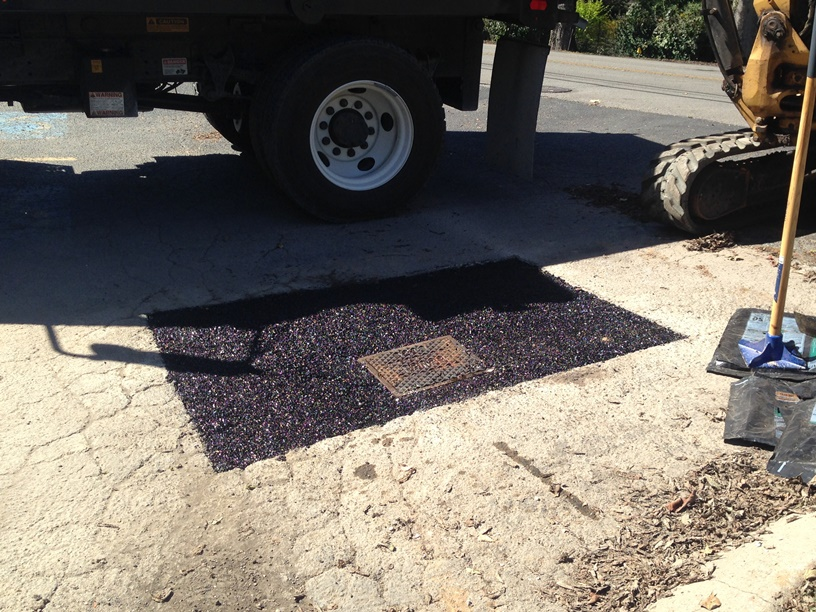 Patched Driveway