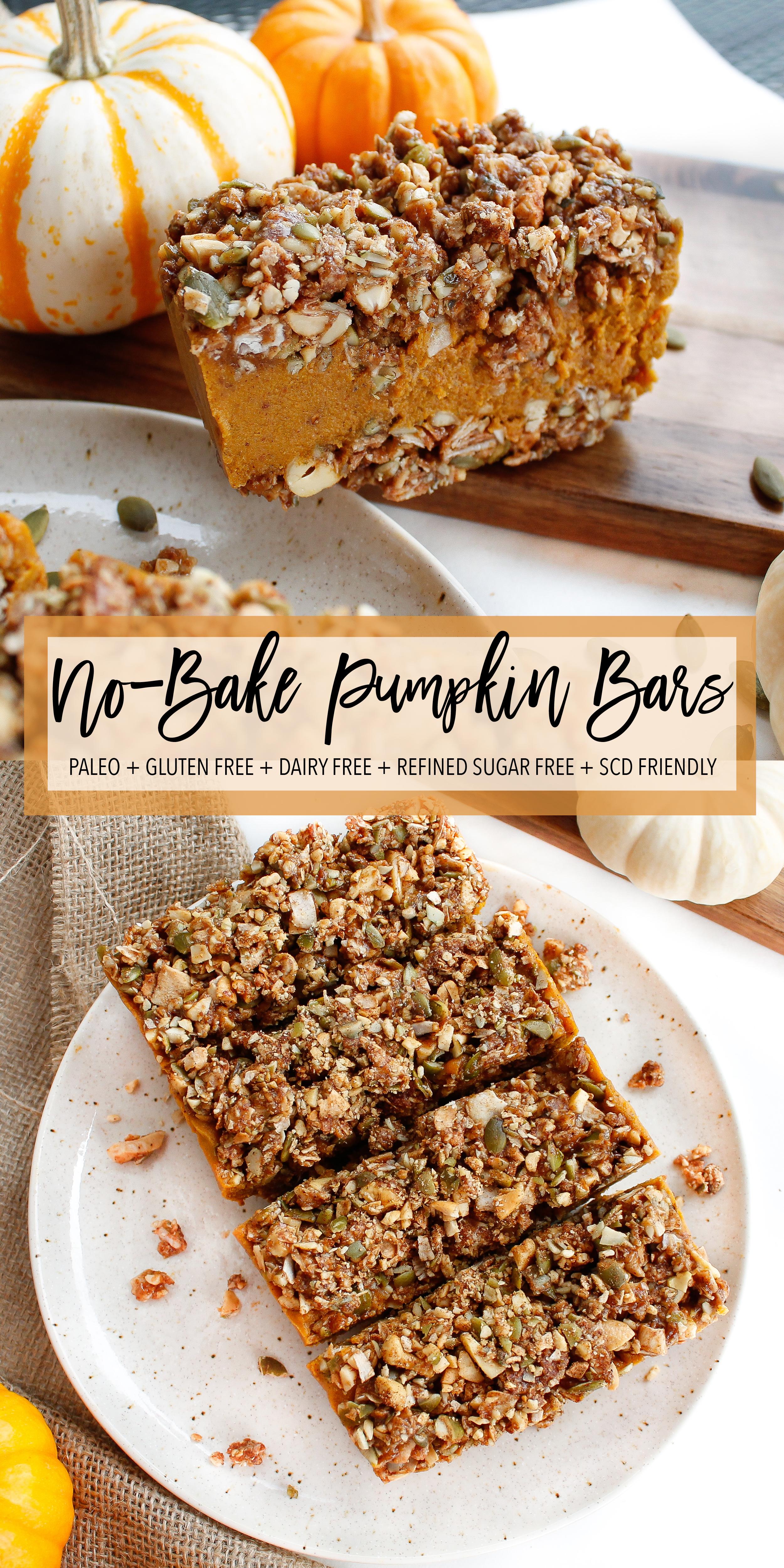 No Bake Paleo Pumpkin Pie Bars Plenty Well