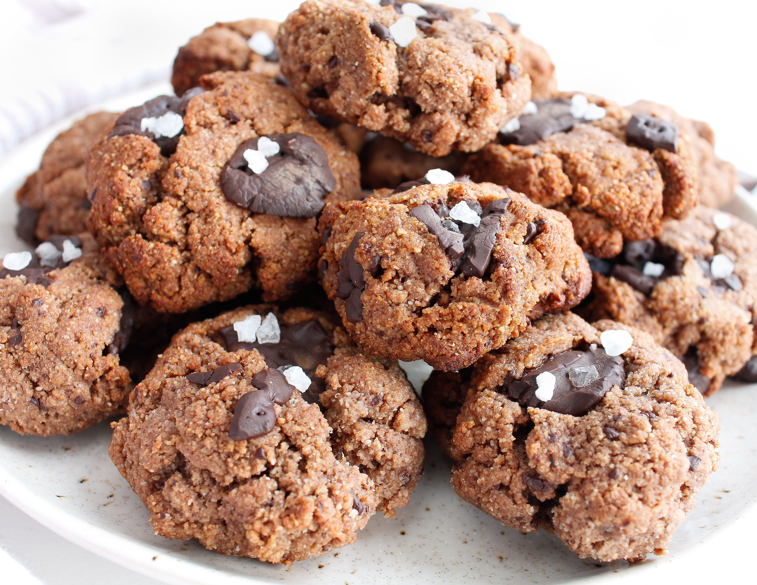 PALEO SALTED CHOCOLATE TAHINI COOKIES