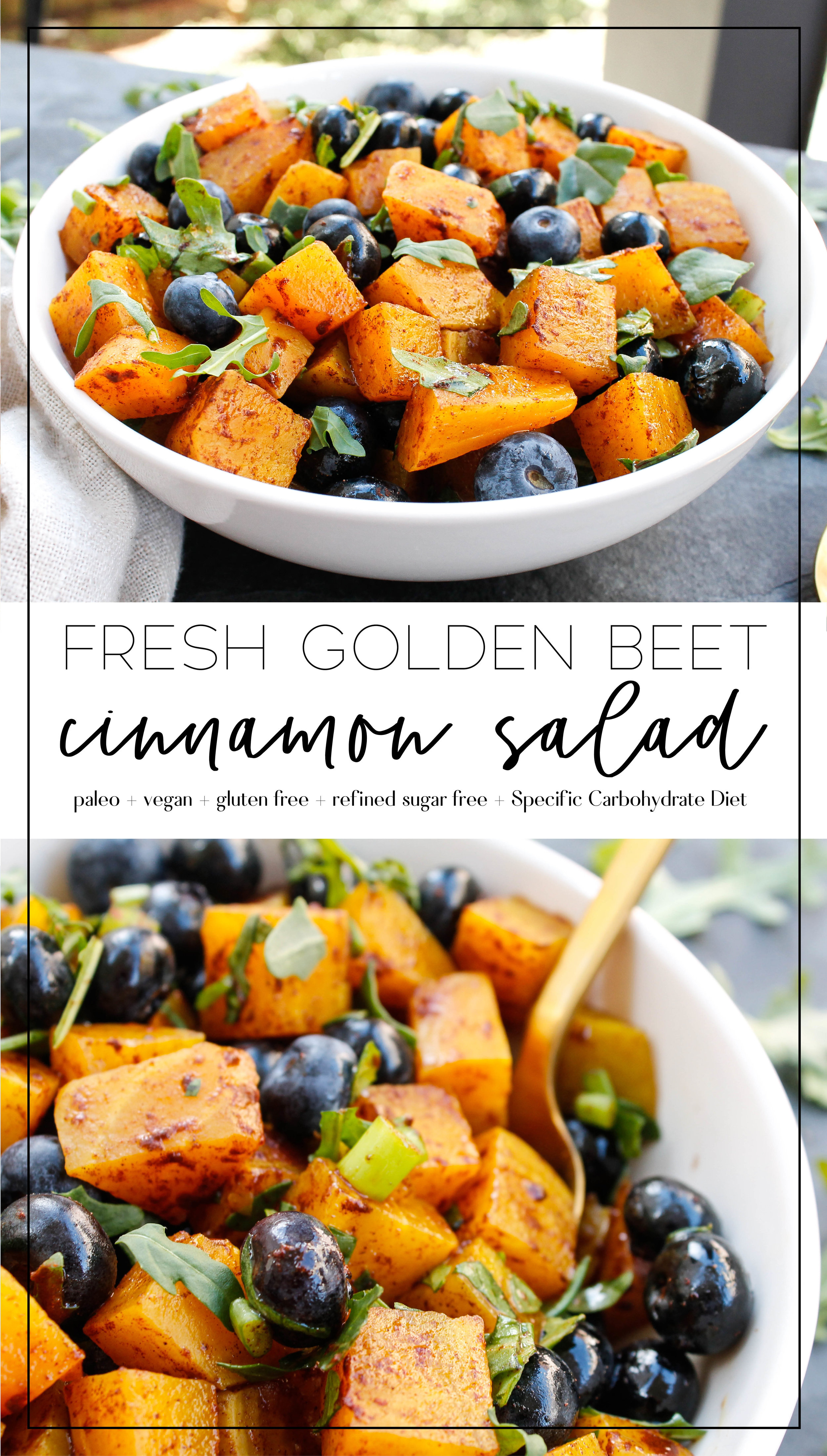 Paleo + Vegan Golden Beet Salad || This beet salad is light and fresh - perfect for every summer occasion! It is also refined sugar free and Specific Carbohydrate Diet friendly || #specificcarbohydratediet #scddet #veganbeetsalad #vegandinner #vegansidedish #paleosidedish || plentyandwell.com