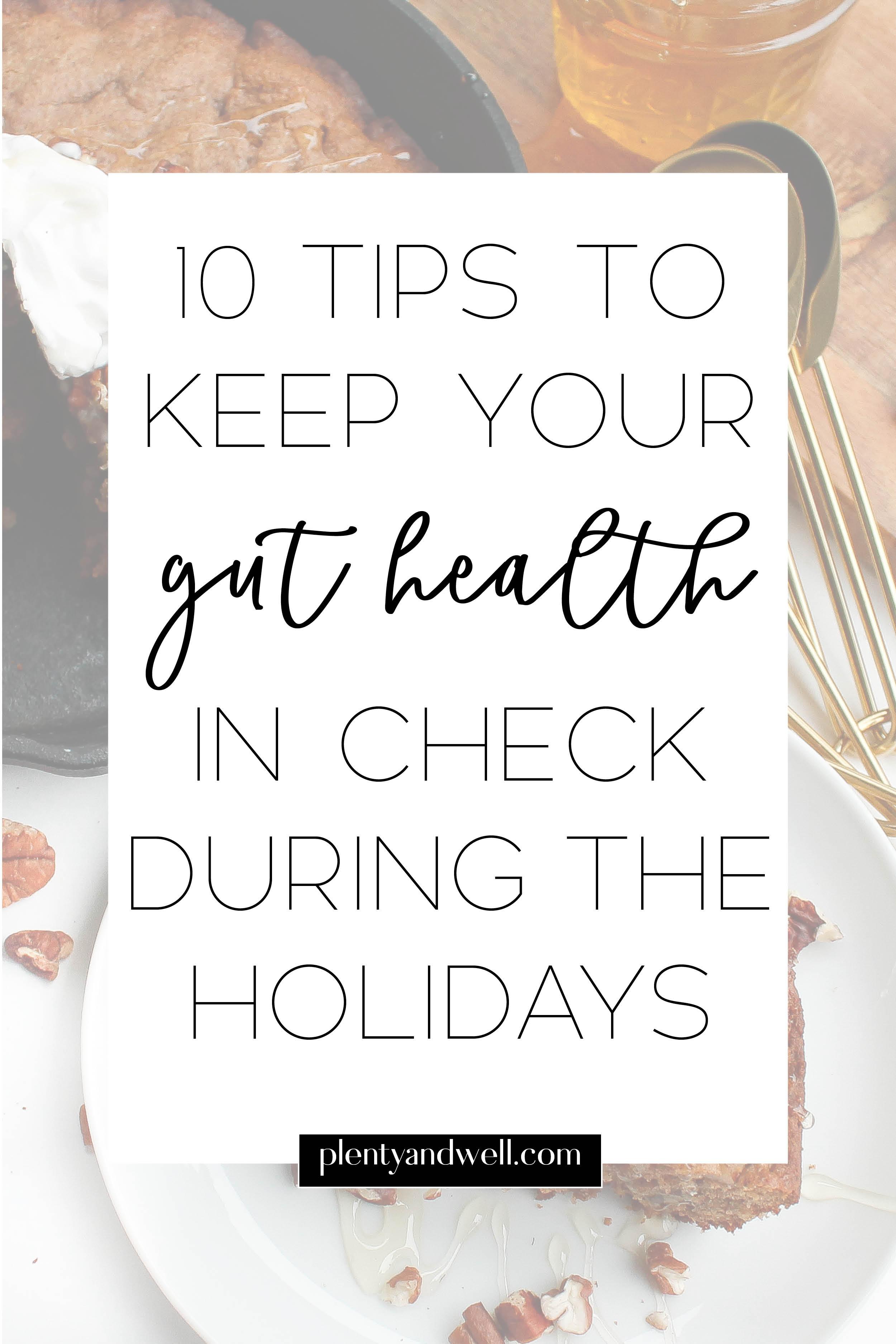holiday gut health