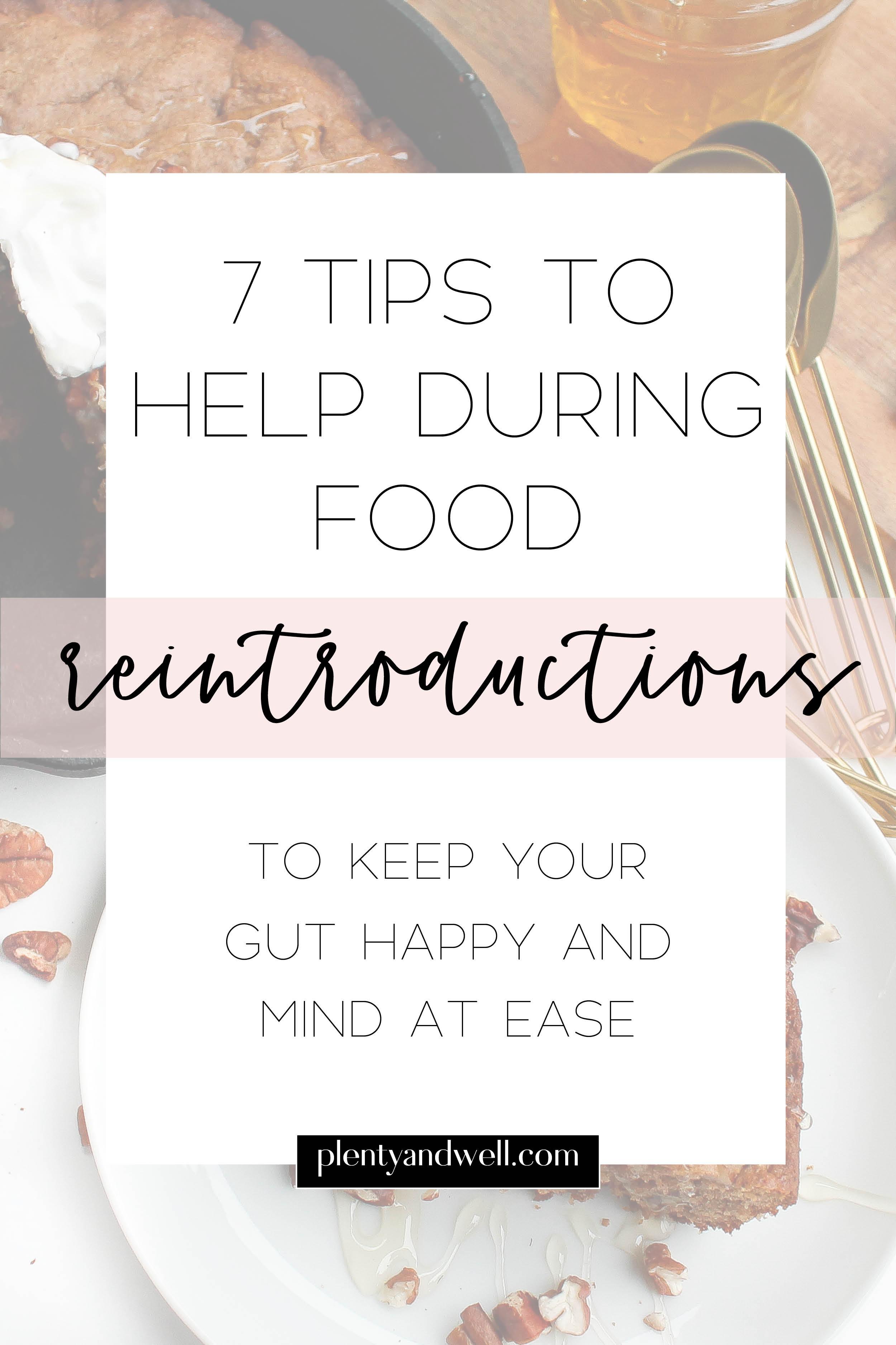 food reintroduction tips