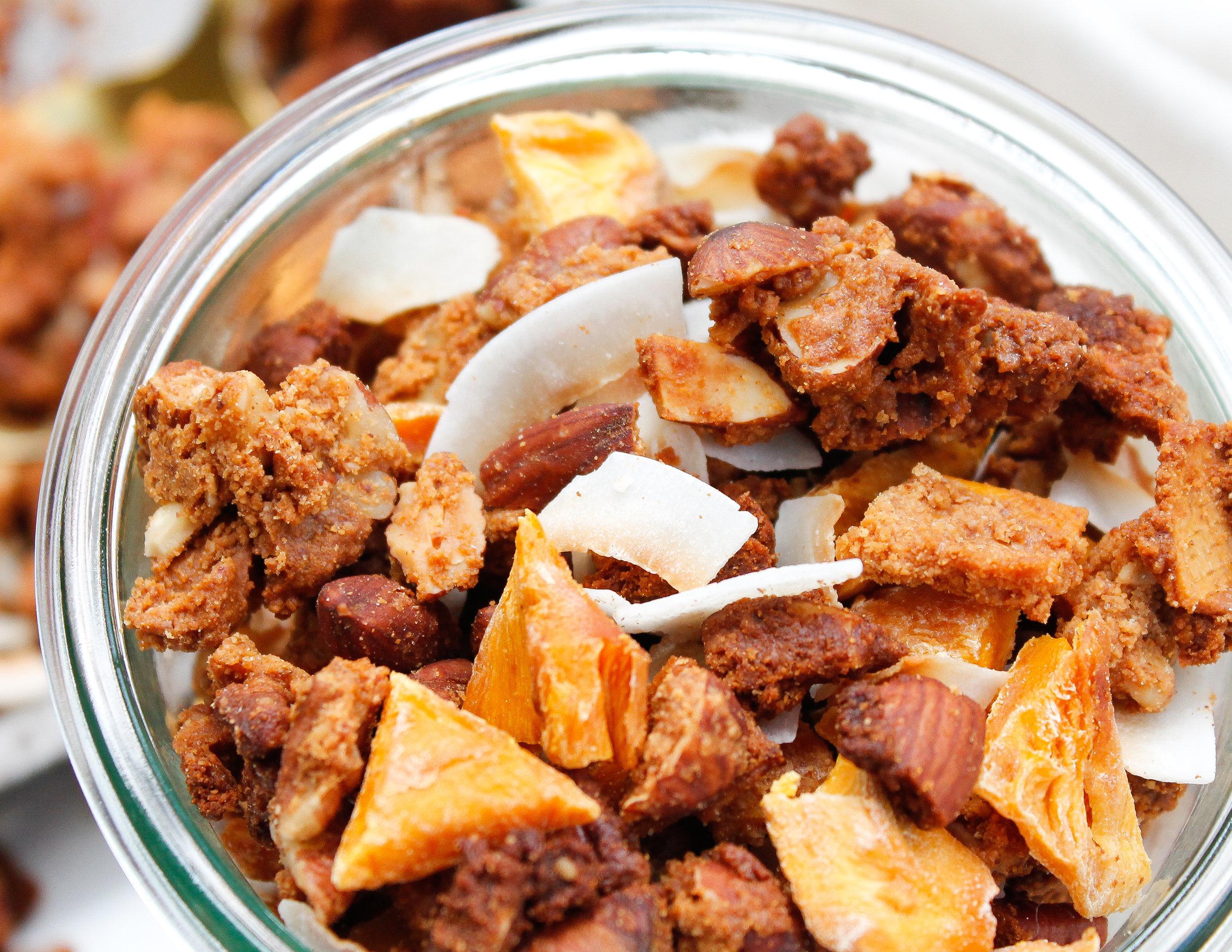 paleo tropical granola