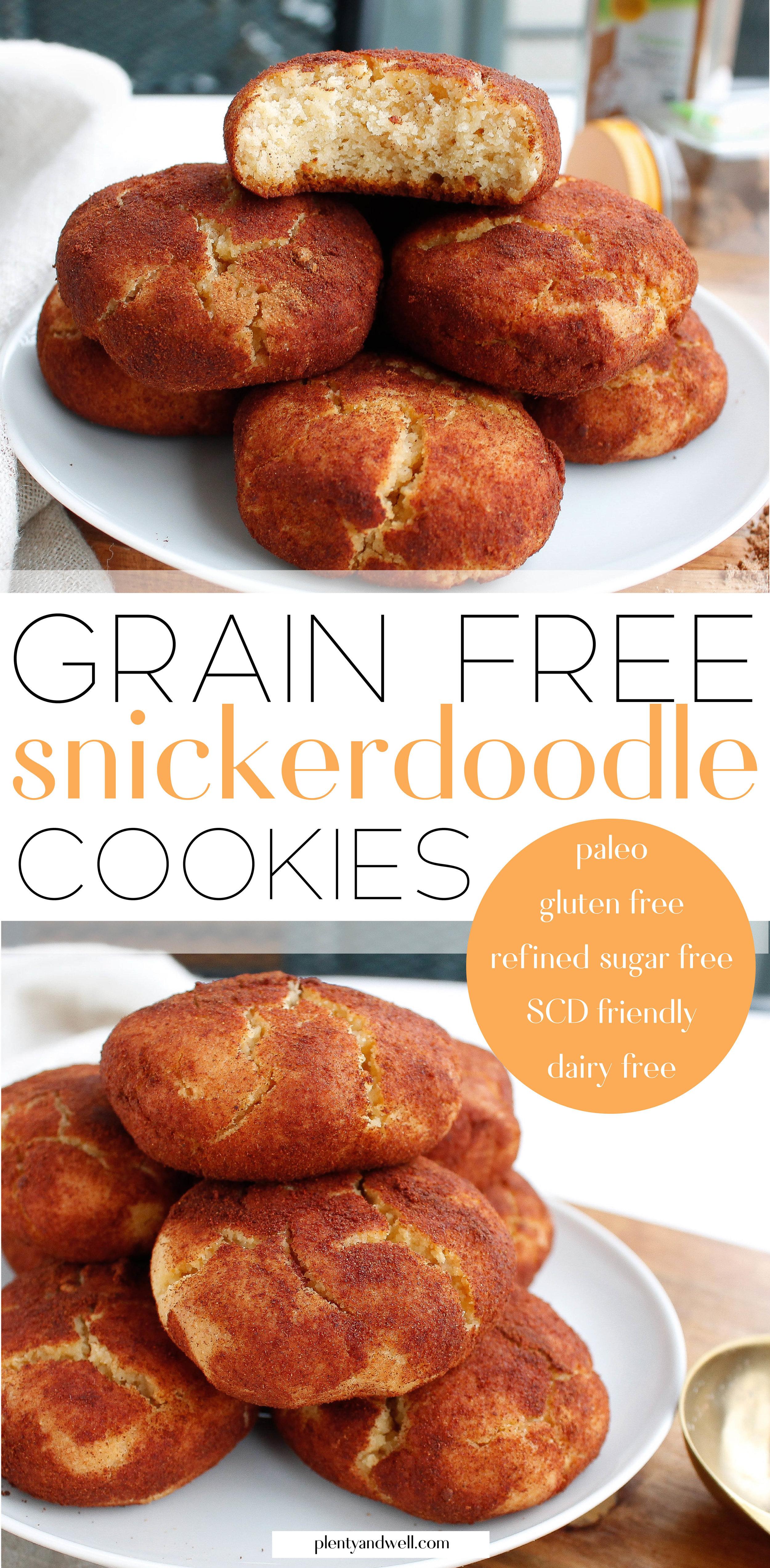 Paleo Snickerdoodle Cookies || plentyandwell.com