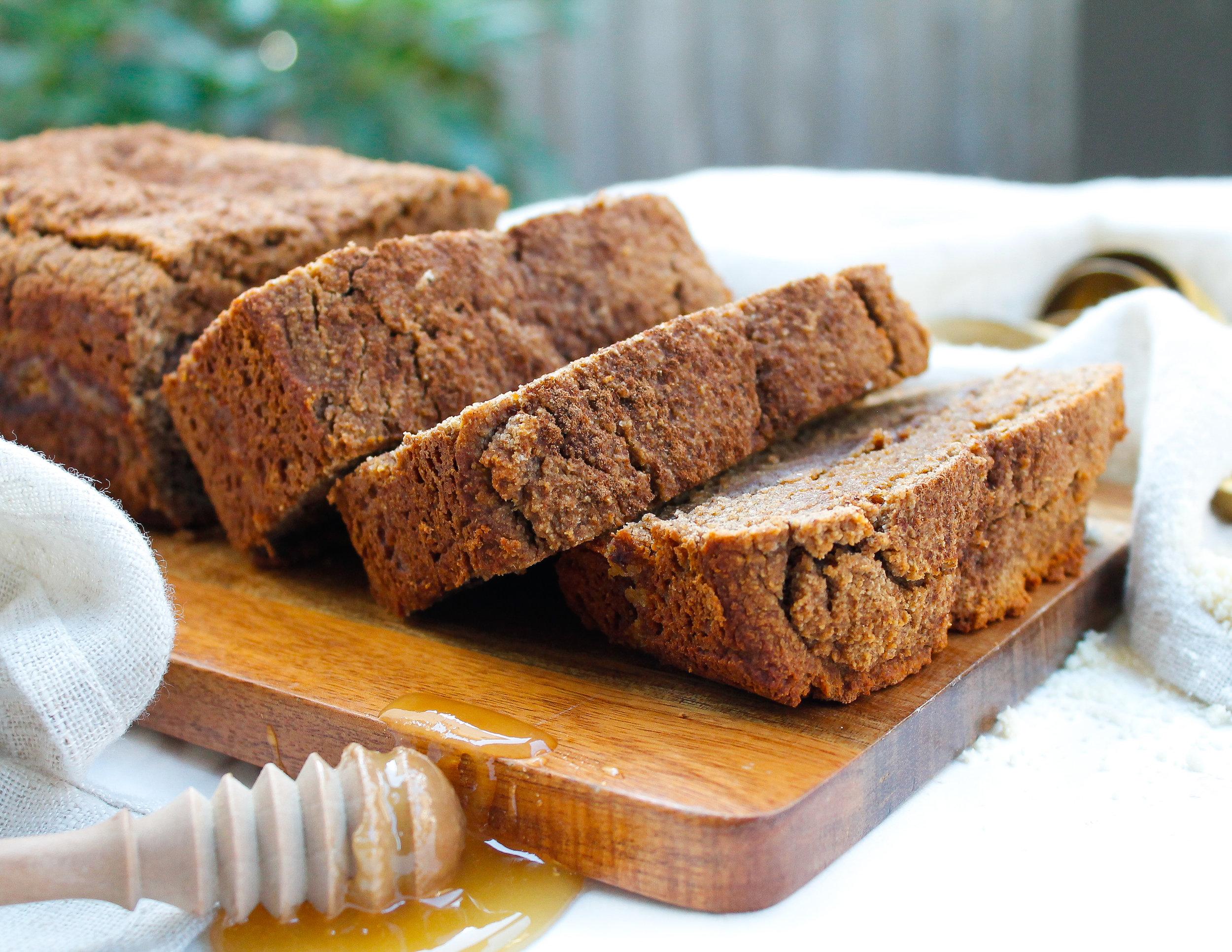 PALEO + NUT FREE CINNAMON ROLL BREAD