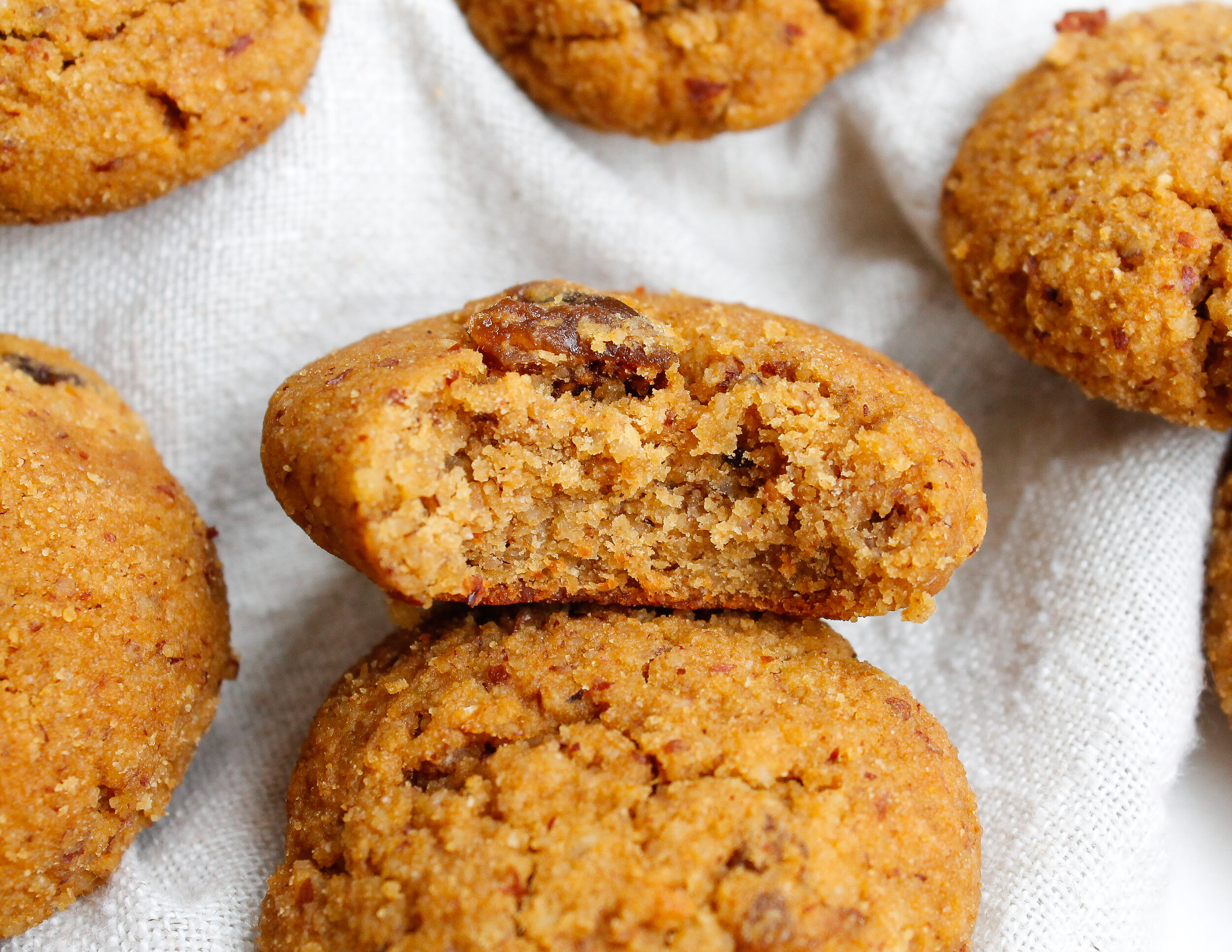 Paleo Pumpkin Fig Cookies    these paleo pumpkin cookies are also gluten free, dairy free, refined sugar free AND specific carbohydrate diet friendly! They're made with wholesome REAL ingredients like almond flour, nut butter and honey. The dried figs give them a little twist and taste like seasons colliding! The perfect way to say goodbye to summer and hello to fall! #paleobaking #paleocookies #paleopumpkinrecipes    plentyandwell.com