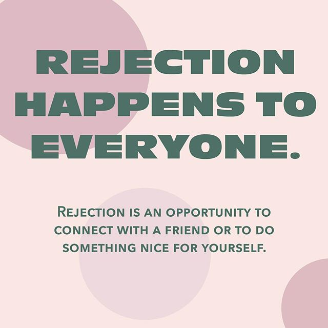 Rejection sucks, we know! It's important not to take rejection too personally. The person who rejected you might just not be in a place that they can connect with you. And, if it is about you, be thankful! You have the opportunity to be with someone who is very into you!  We all deserve to be loved and even if you're alone right now, it's an opportunity to connect with friends or yourself.  Rejection might just be a way to spend more time building yourself up, and get you ready to meet the person who will make you happy. 😄