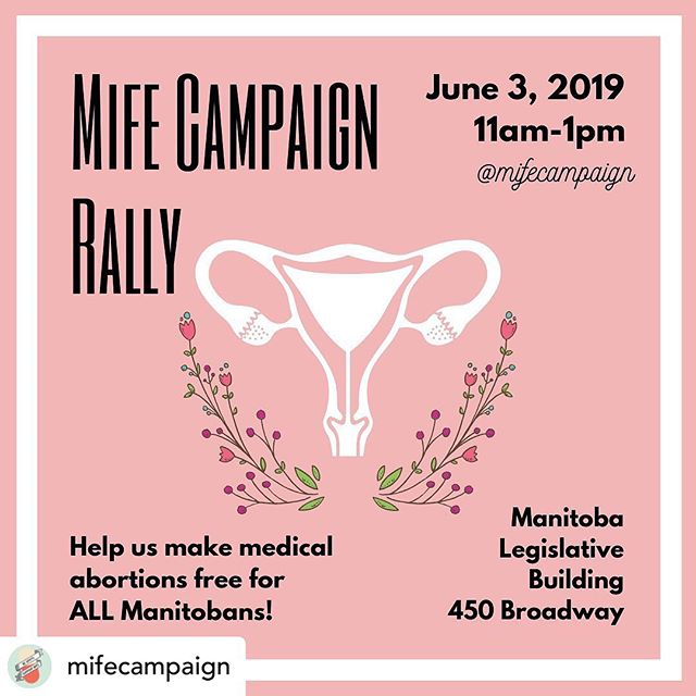 It's truly sad and disgusting what's happening below the border with abortion laws. It can be incredibly disheartening to see laws being made today that hurt women and favour rapists.  But, here is a way we can exert our power, organize, and fight for our rights locally. Come one, come all! Let's support and advocate for a woman's right to free and safe abortion in Manitoba!