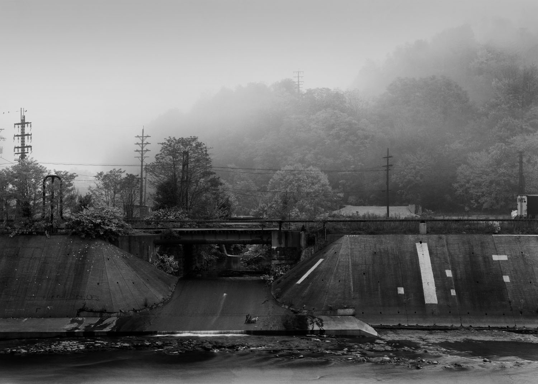 Hinkston Run at the Conemaugh River, Johnstown, Pennsylvania