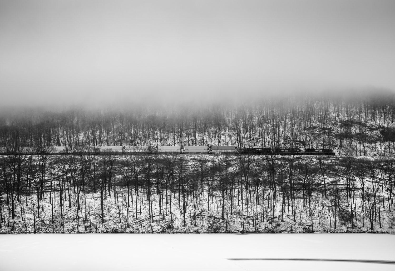 Eastbound descending Horseshoe. , Blair County, Pennsylvania