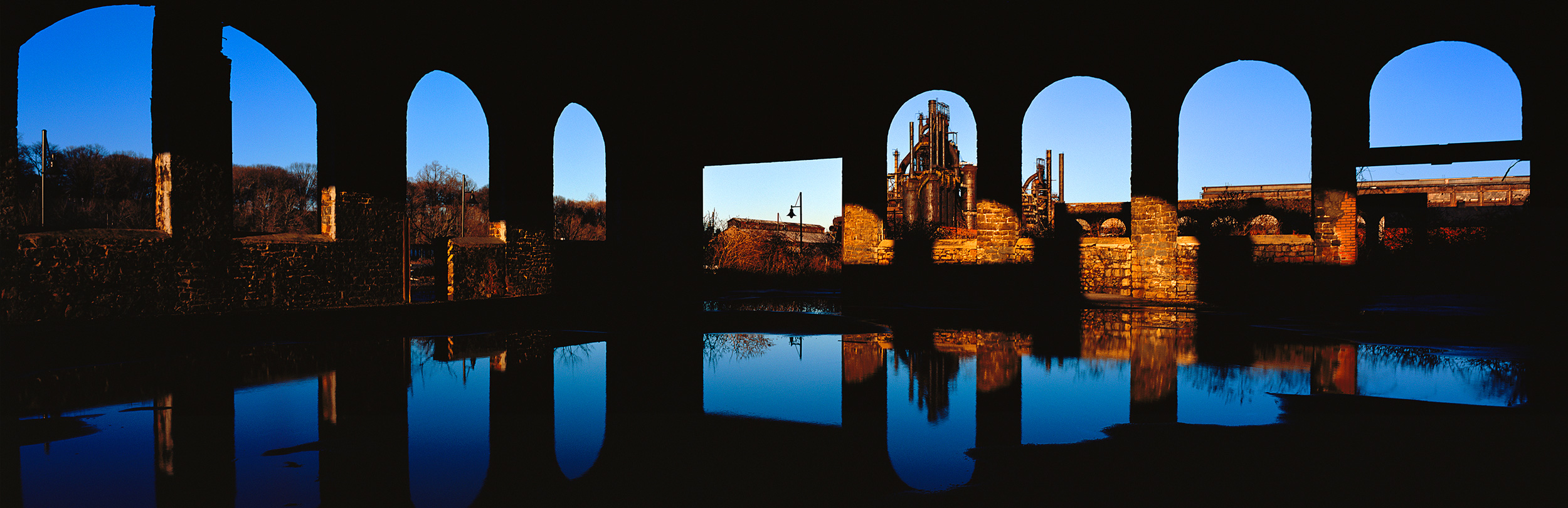 Alyssha Csuk, Bethlehem Steel Chrome VI, Bethlehem Pennsylvania , 2006 44.5 x 19.5 inches Transparency film, Giclee print