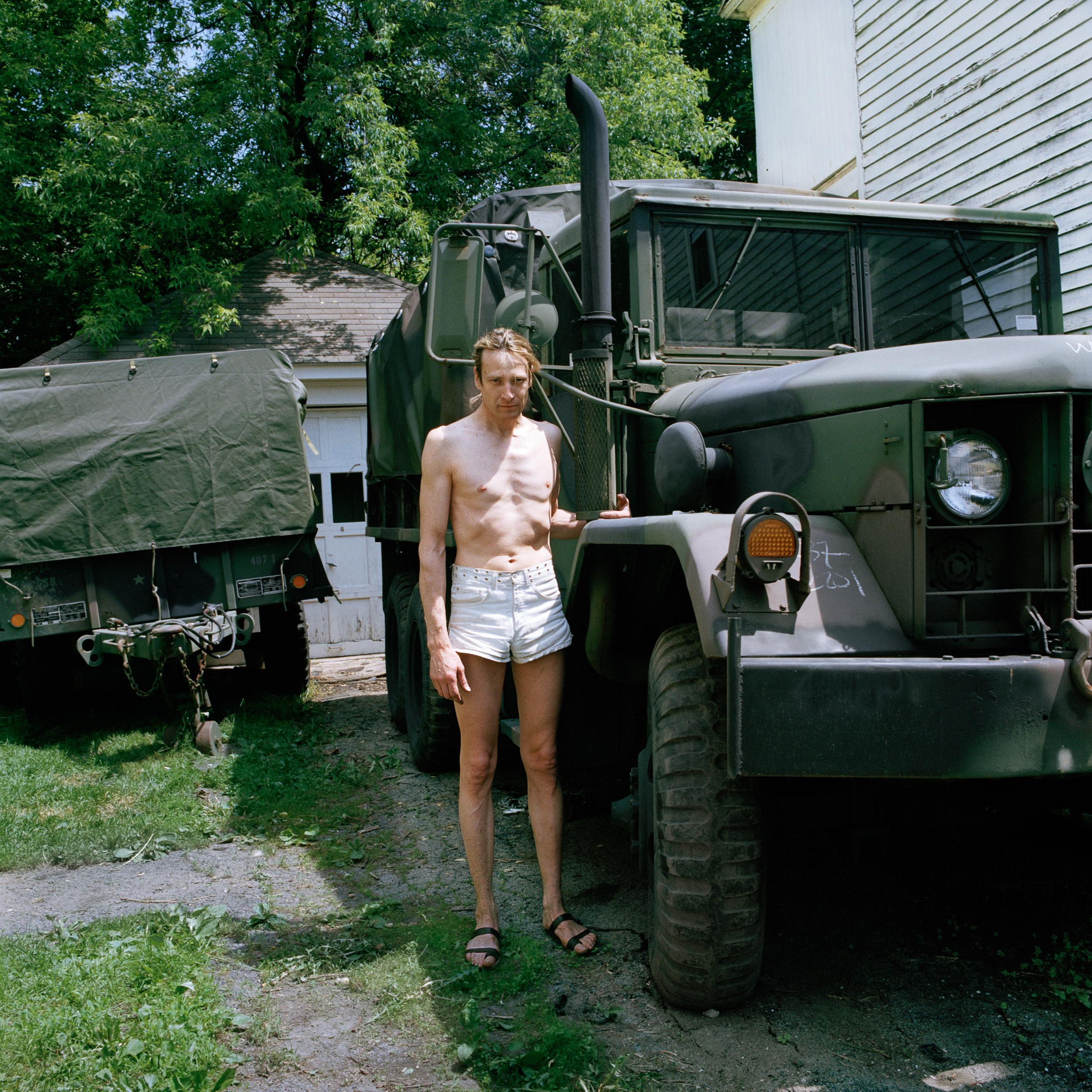 Bill With Trucks, Amsterdam, NY, 2009