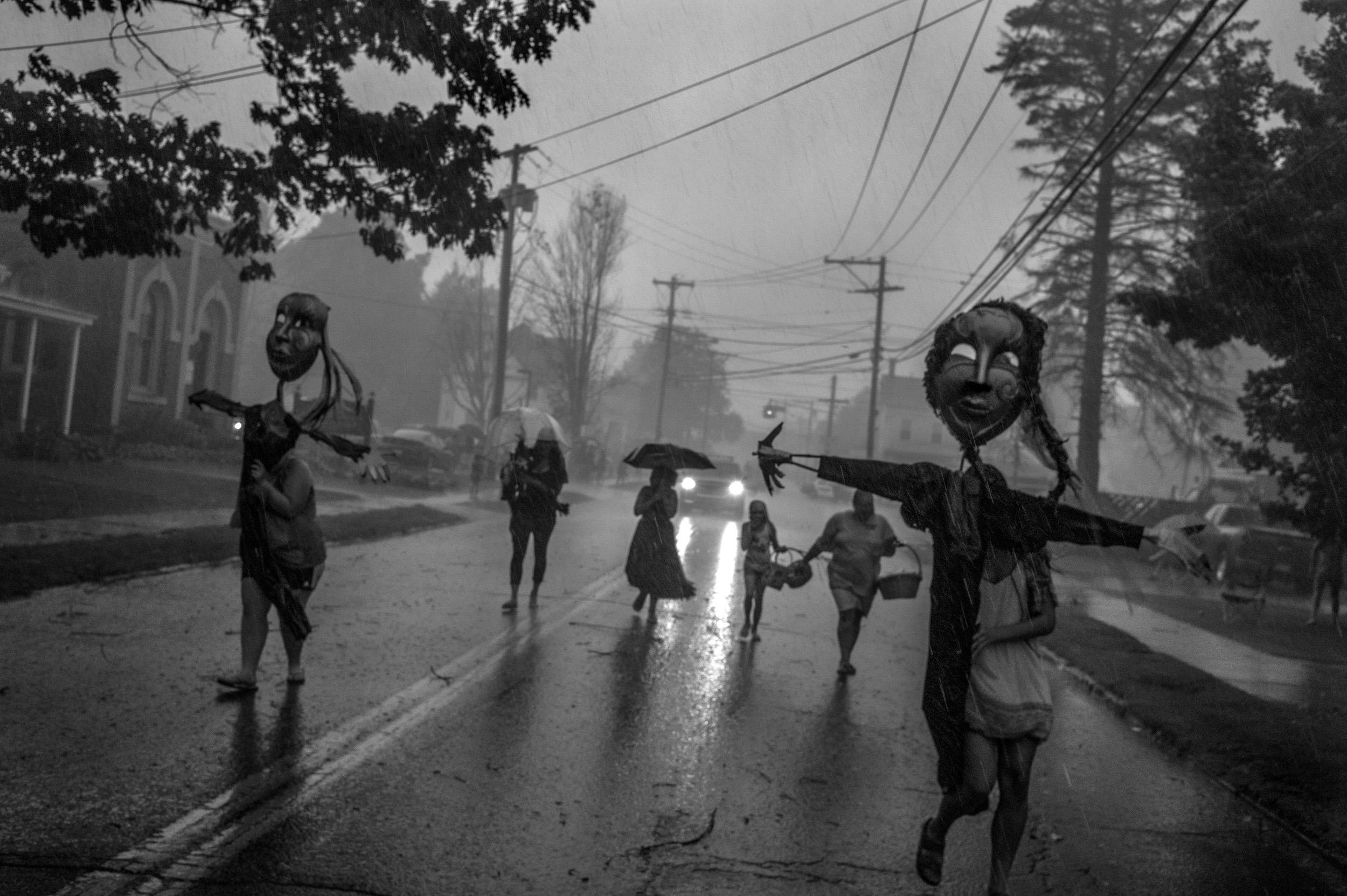 The Rain Masks, Deposit, NY , 2015