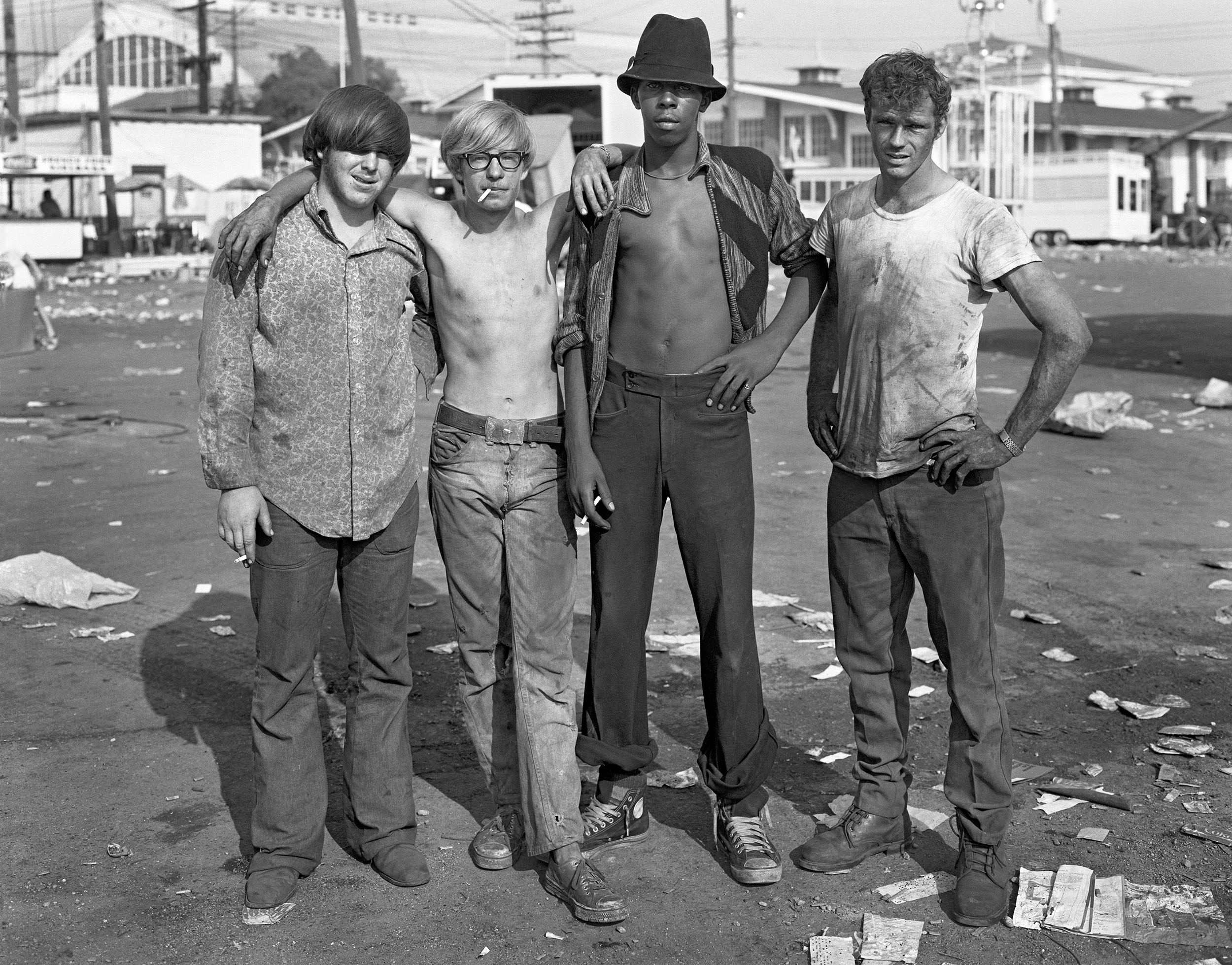 Four Carny Workers, Detroit, Michigan, 1973