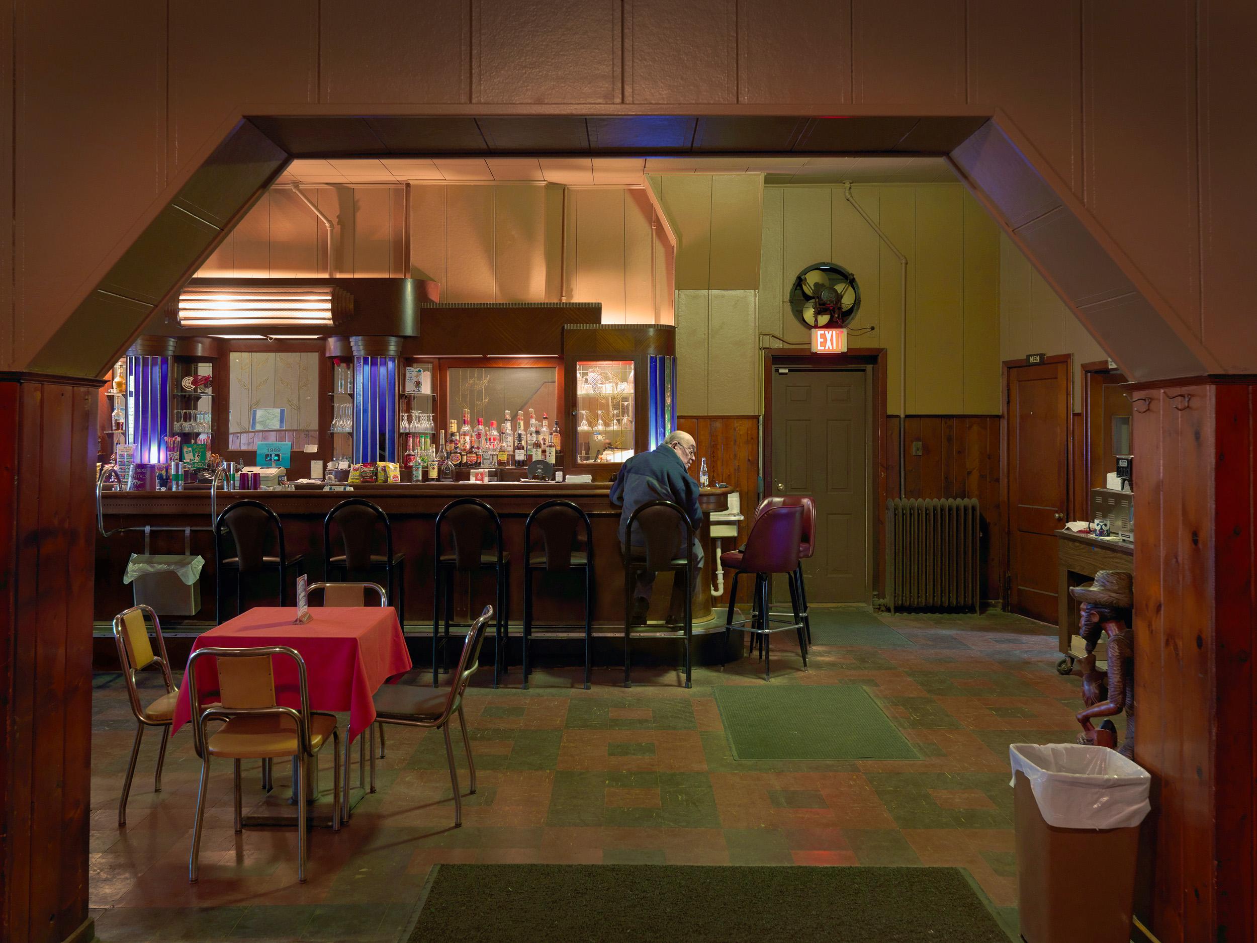 Man Sitting at the Bar, Kovac's Tavern, Delray, Westside, Detroit, Michigan, 2010