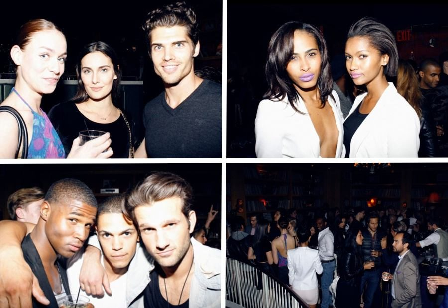 Brian (top left photo) and other supermodels partying to benefit Arrive. Ok, maybe a little bit of me wishes I was back in America for this!