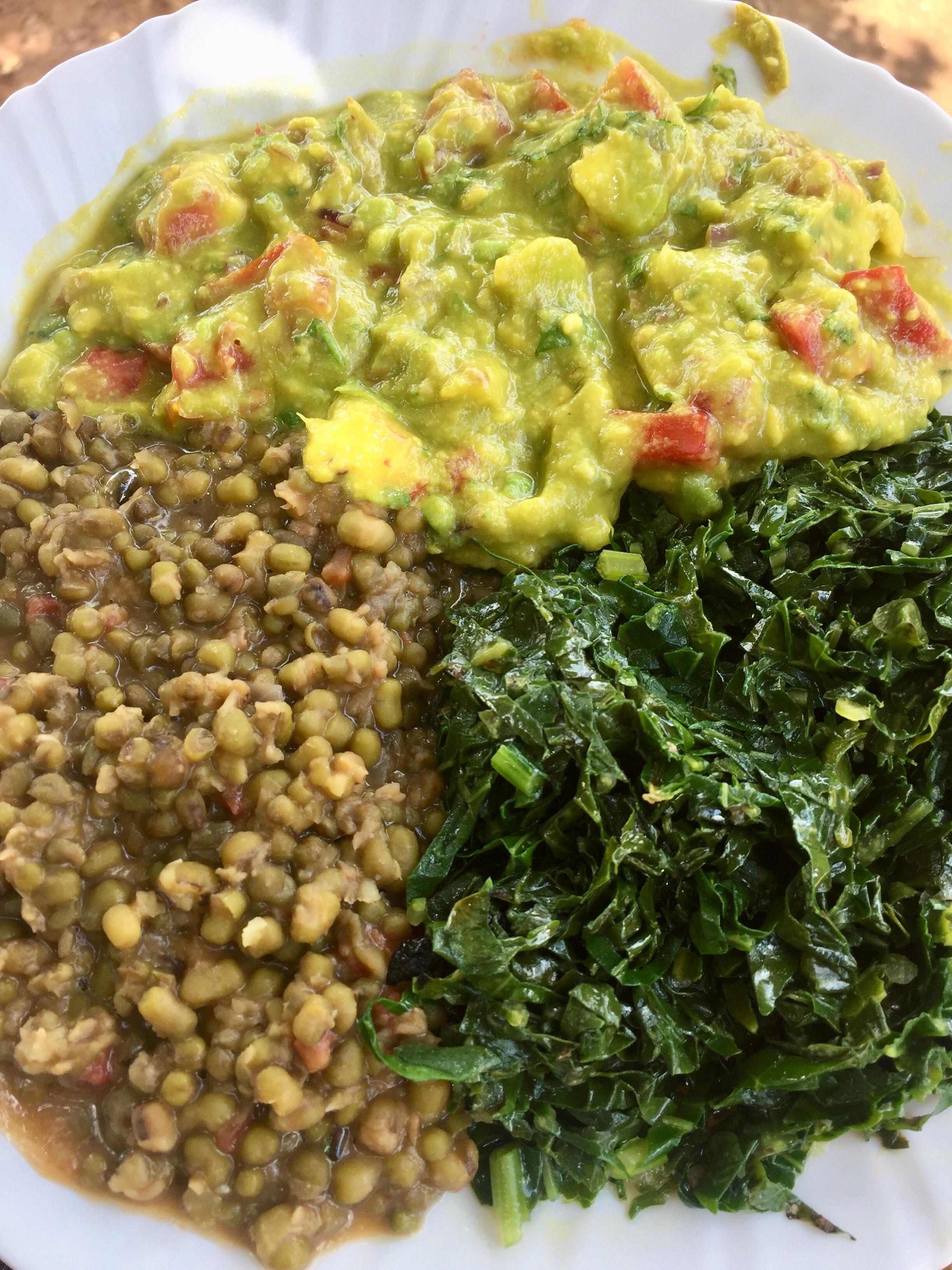 Mung Bean, Kale, Guacamole