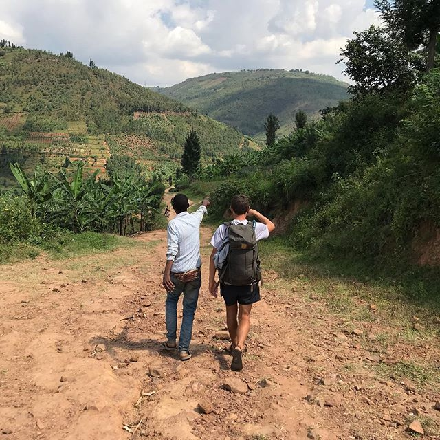 Without cell reception or a shared language, we made a local friend who helped navigate us through the hilly countryside of Rwanda this afternoon on #thewalkafrica. Not only did he show us a shorter route, but also took us by waterfalls and up steep mountain paths that we would have never found on our own. Thank you our friend from Burimbi, Rwanda for joining us and being a part of our walk. 🙏