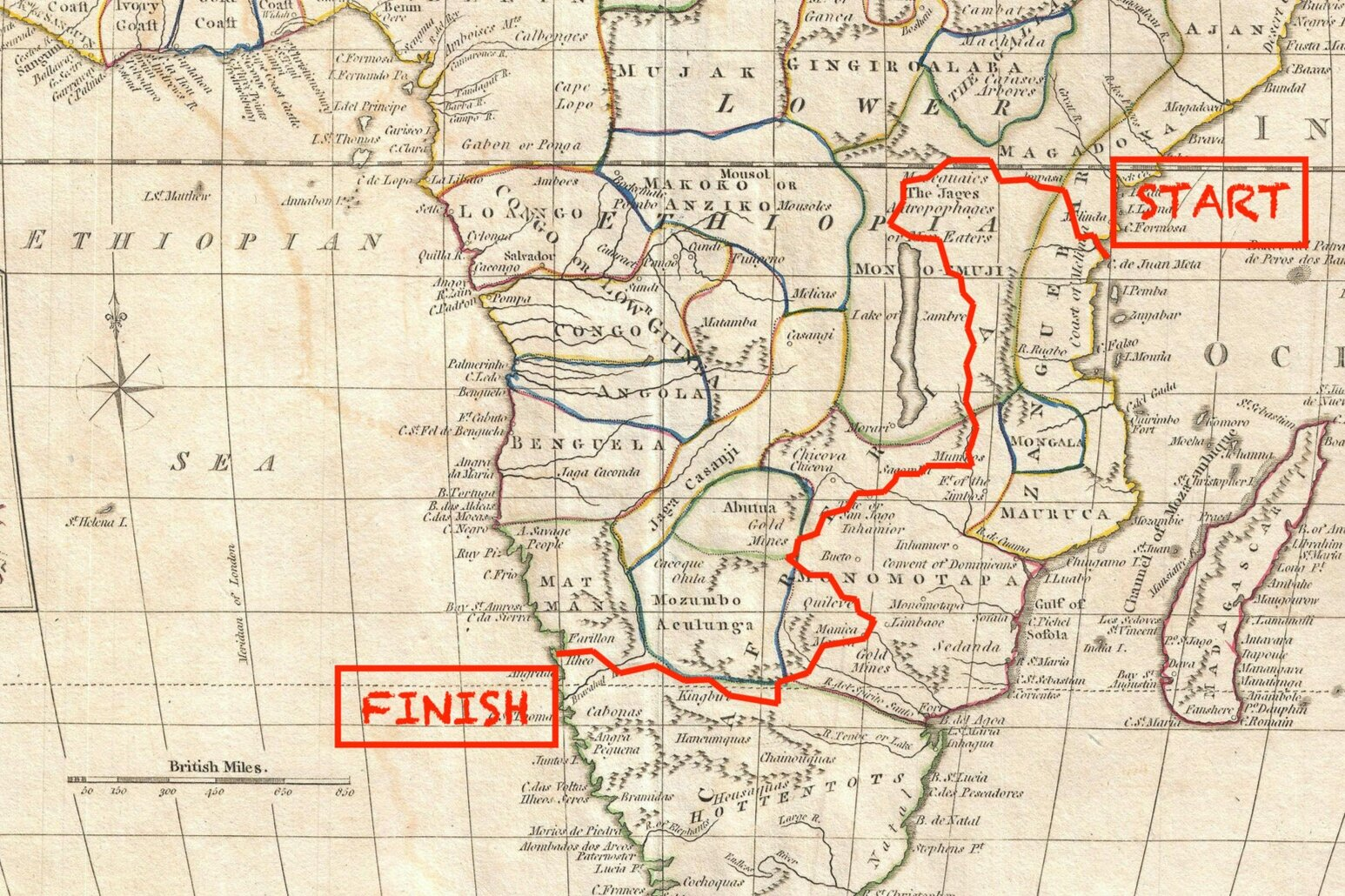 an epic 4,500 mile journey across africa, on foot -