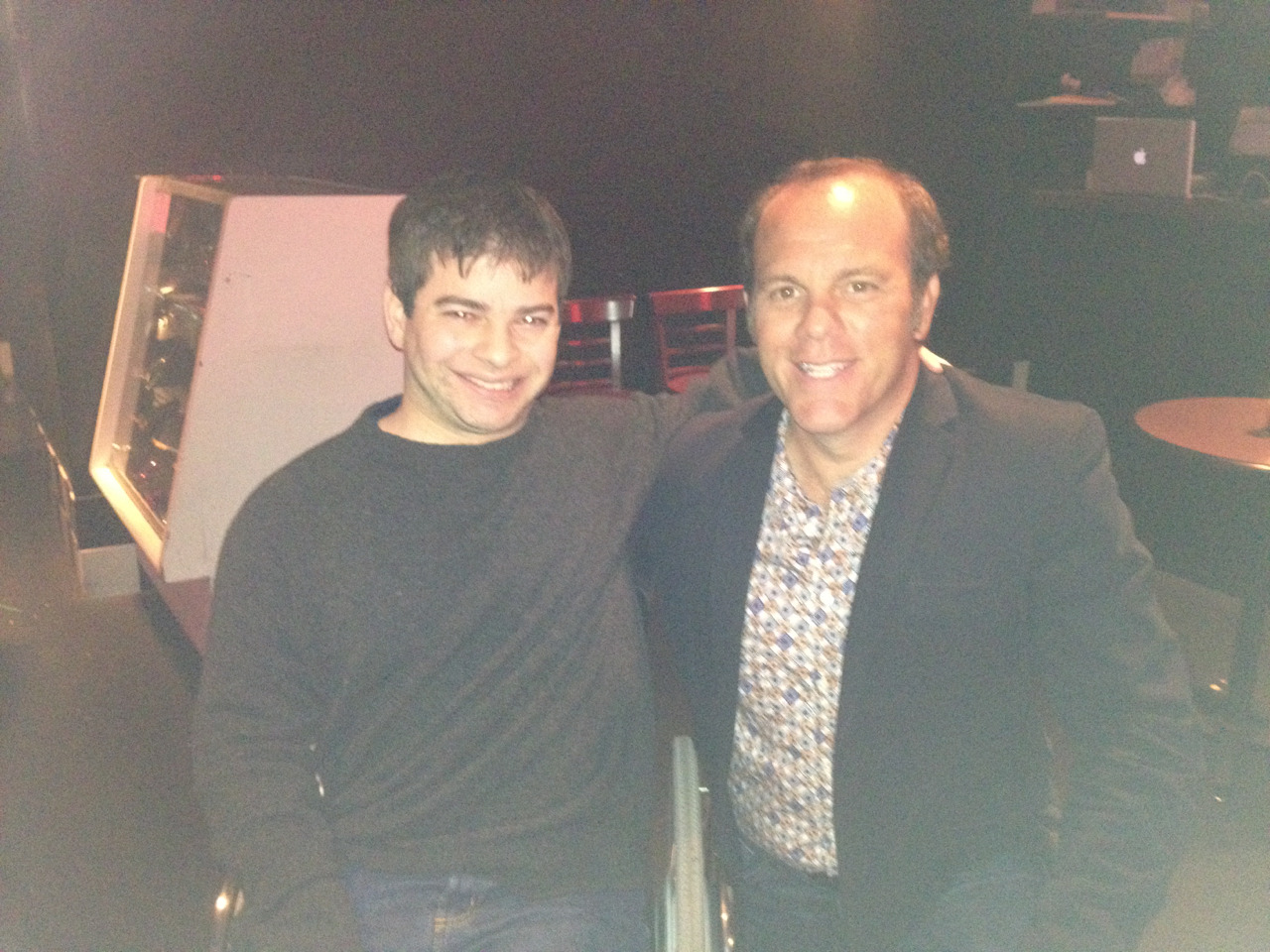 Hangin' with comedian Tom Papa at the D.C. Improv.