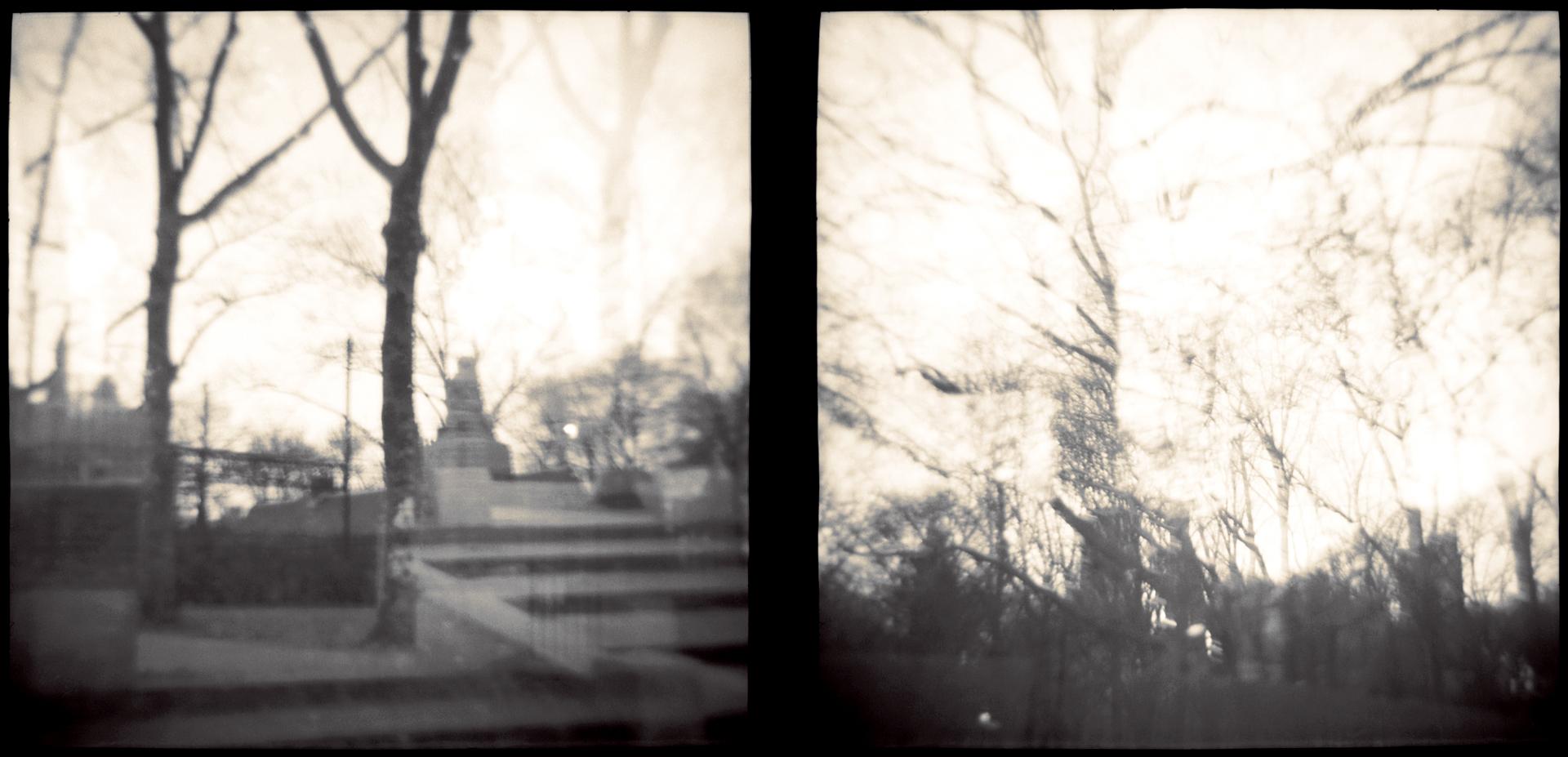 Landscape of Memory : lom 041   toned silver print, framed  29 x 14cm, 1997