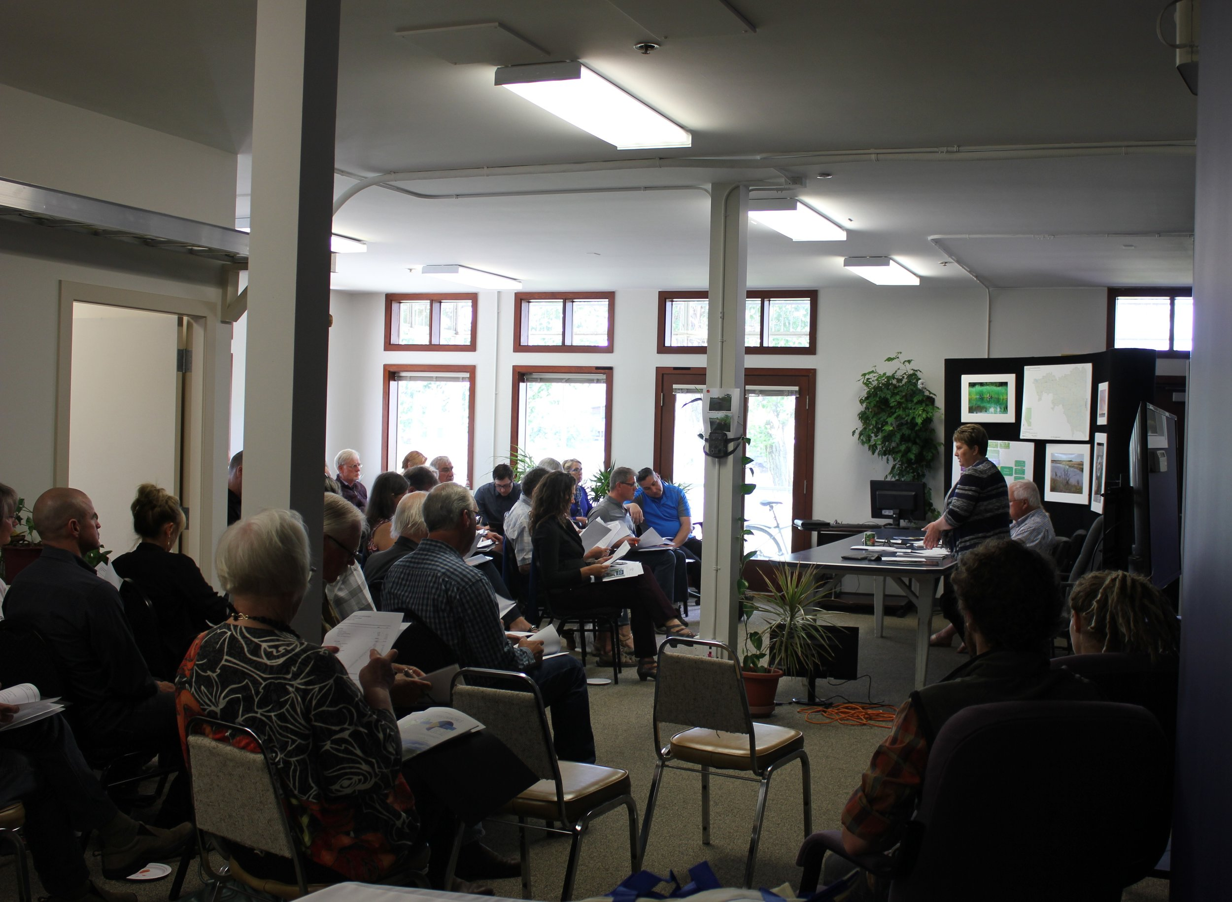 The BRWA's AGM in June in their new office space.