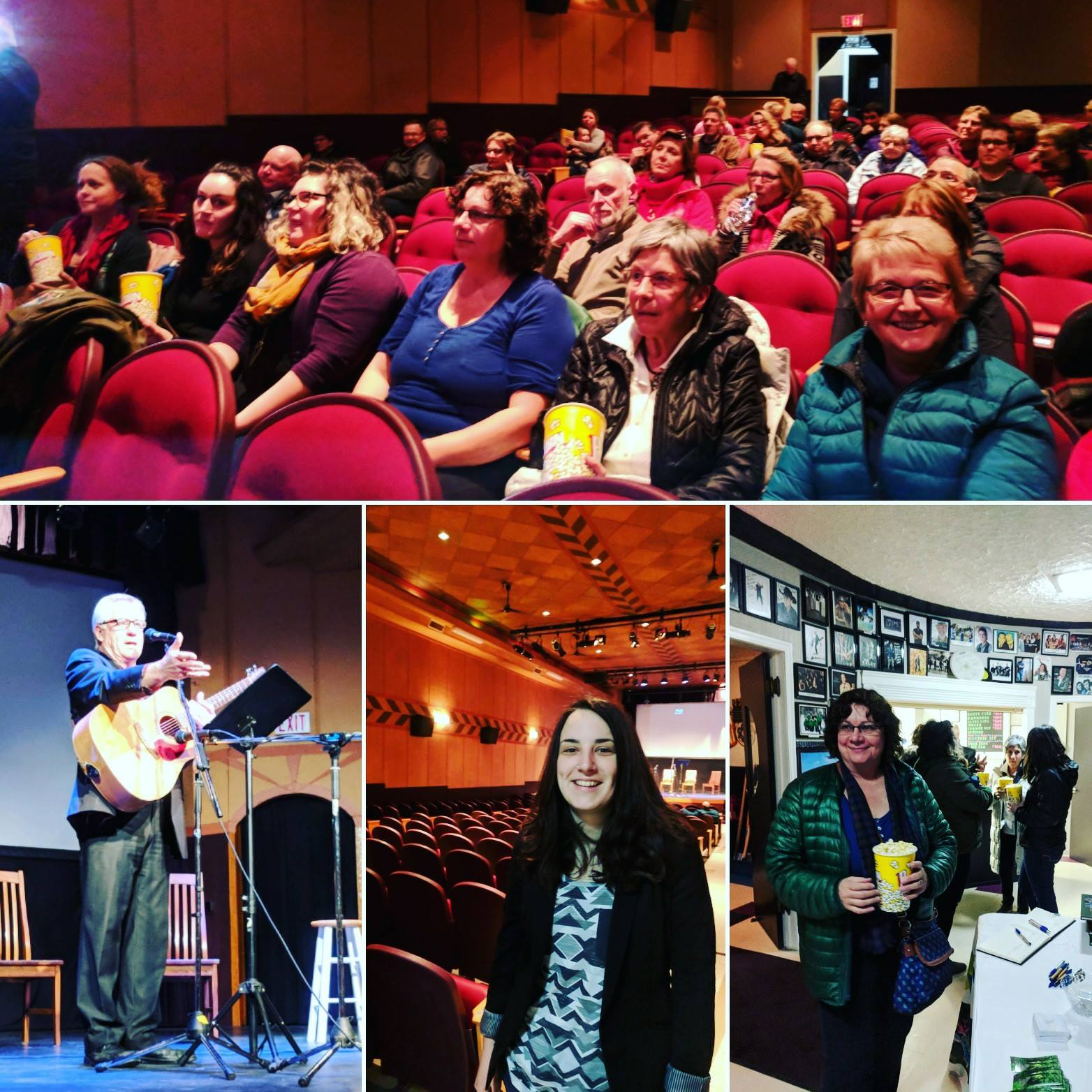 """Photos from the BRWA's """"Finding Common Ground"""" documentary premiere. Filmmaker Alison Bortolon pictured in centre photo."""