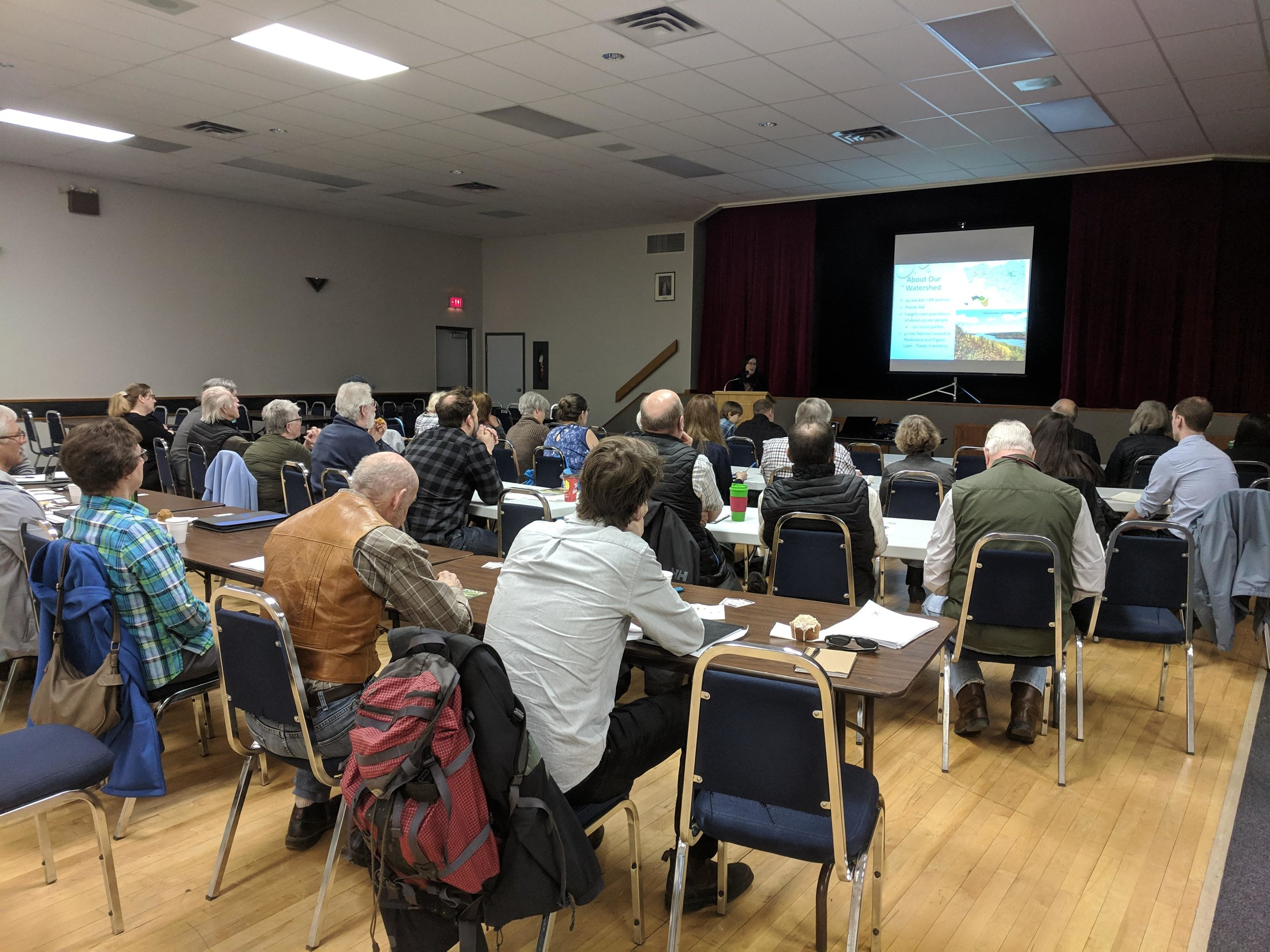 Participants at the Battle River Biodiversity Forum on World Water Day 2019