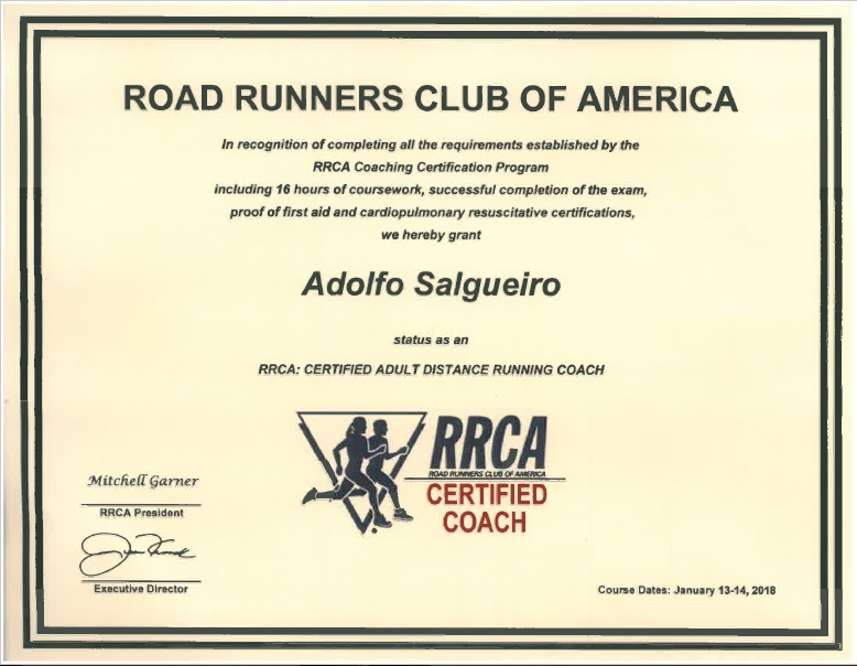 Road Runners Colubs of America Running Coach Certification