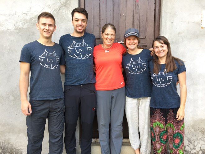 Laura Welland surrounded by students from EWB- Karlsruhe Institute of Technology, Germany.