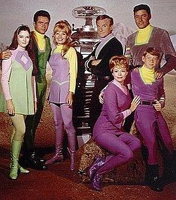 Publicity photo of the classic Lost in Space series. Circa 1960's.