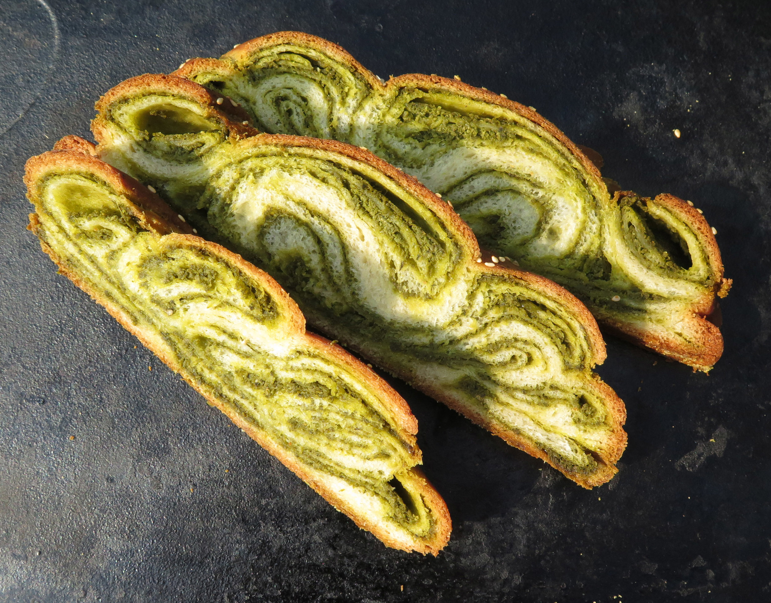 WILD GARLIC AND NETTLE CHALLAH
