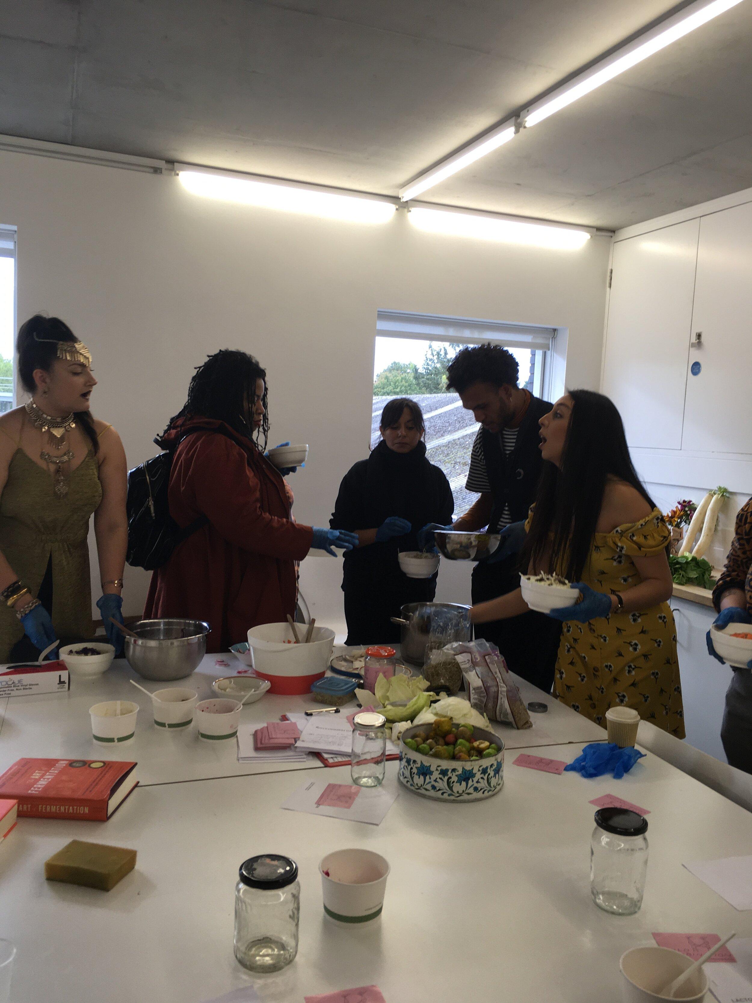 Lacto Fermentation Workshop New Art Exchange Nottingham