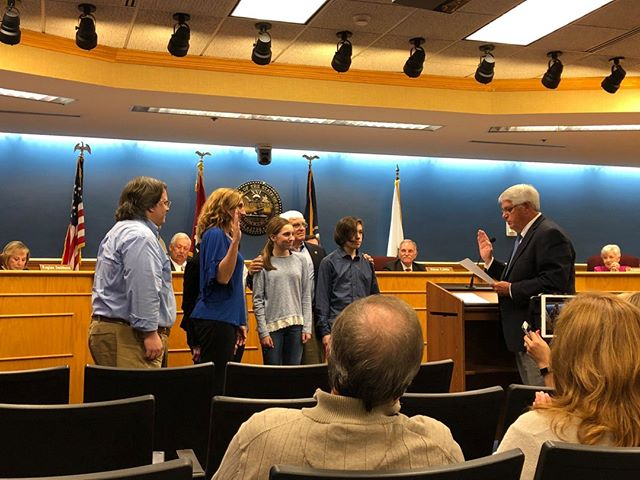 It was such an honor to be sworn in tonight as Brentwood City Commissioner - thank you all for your support - I look forward to serving Brentwood for the next 4 years.