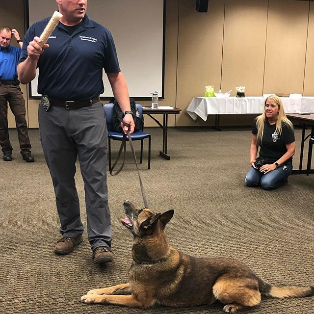 Citizens Police Academy- got to meet Lexie the K-9 tonight. #brentwoodpolice