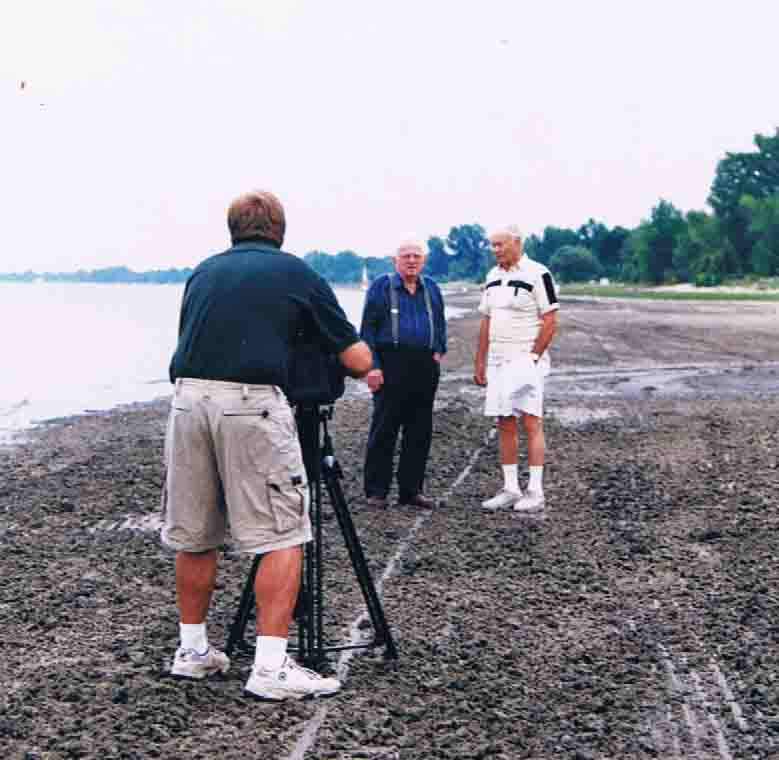 Filming survivors from the 1940 Storm