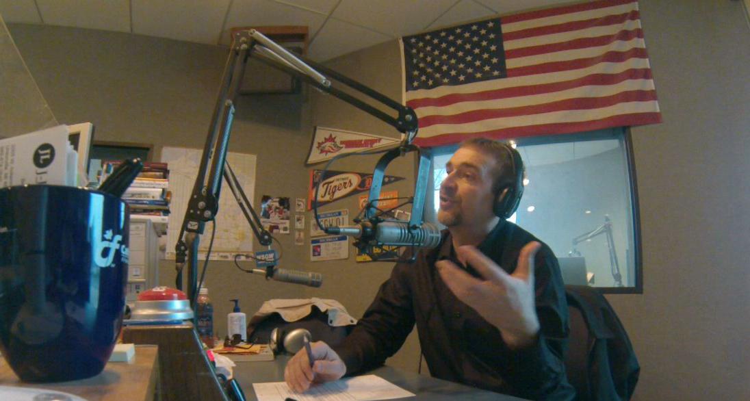 On air at WSGW Talkradio