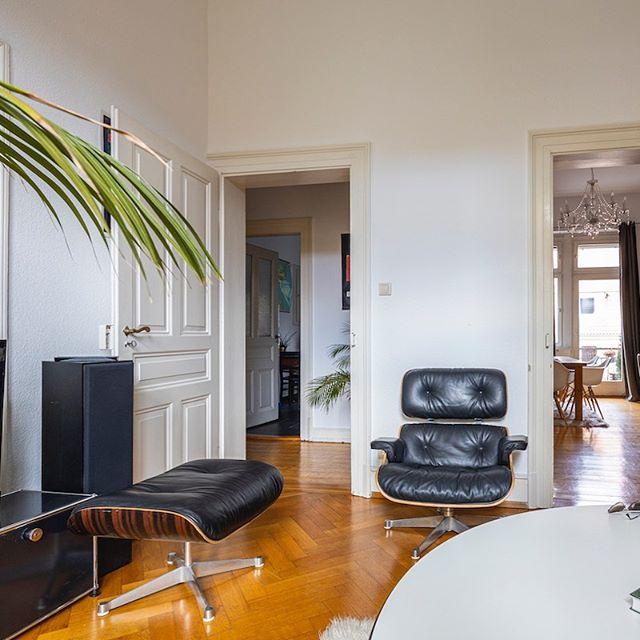 Teilmöblierte Wohnung mitten in Neuenheim mit 3 Zimmern und knapp 90 qm Wohnfläche zu vermieten... #heimburgerimmobilien #neuenheim #heidelberg #ladenburger21 #21magazin #vitra #usm #altbau #immobilien
