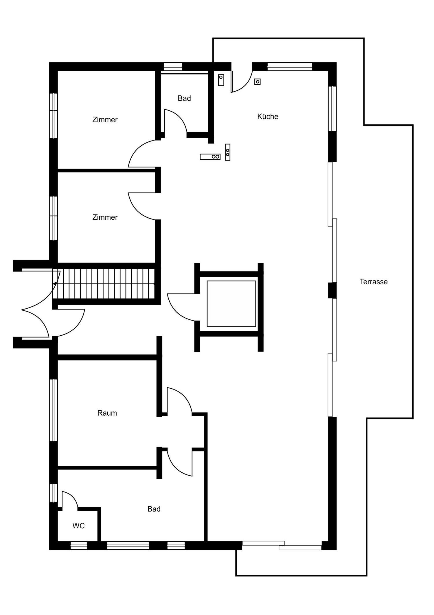 Grundriss Penthouse Wiesloch
